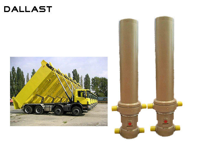 3 / 4 Multi Stage Telescopic Dump Truck Lifting Hydraulic Cylinder